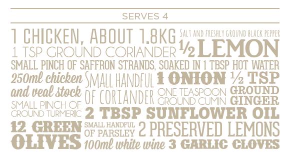 Chicken with saffron recipe ingredients Leiths and Nortfields