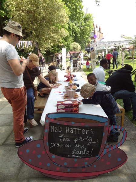 Mad Hatters tea party at May Madness