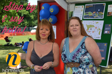 Party-in-the-park-Cathy-and-Ann-in-our-booth