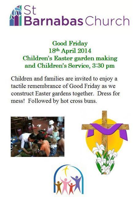 St Barnabas Good Friday Easter Garden Making kids activity