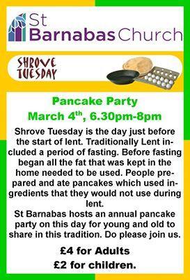 StBarnabas pancake day