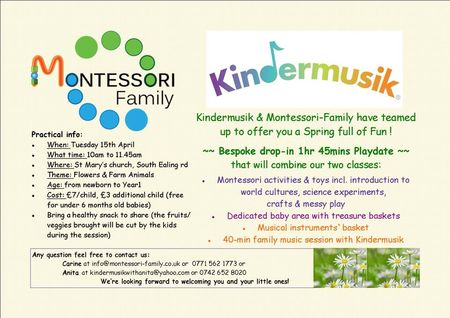 Kindermusik Easter Activity for kids