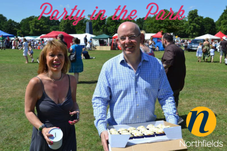 Party-in-the-Park-Ann-and-Richard-raising-money-for-the-Log-Cabin